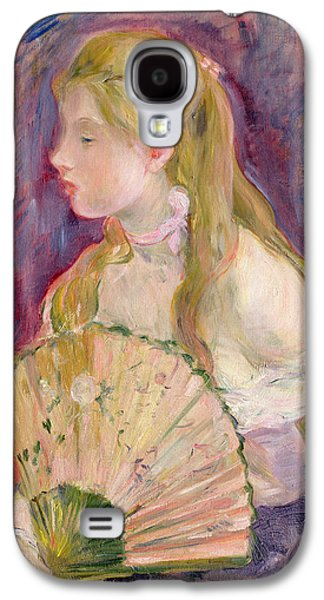 Young Girl With A Fan Galaxy S4 Case by Berthe Morisot