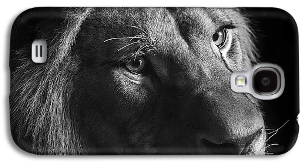 Young Lion In Black And White Galaxy S4 Case by Lukas Holas