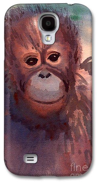 Young Orangutan Galaxy S4 Case by Donald Maier