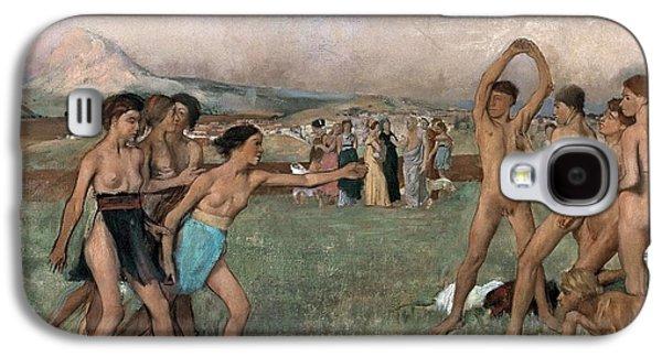 Young Spartans Exercising Galaxy S4 Case by Edgar Degas