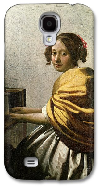 Young Woman At A Virginal Galaxy S4 Case by Jan Vermeer