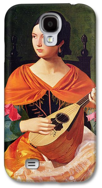 Lute Paintings Galaxy S4 Cases - Young Woman with a Mandolin Galaxy S4 Case by Vekoslav Karas