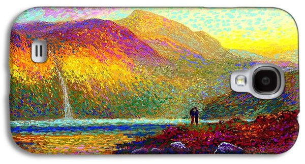 Your Love Colors My World, Modern Impressionism, Romantic Art Galaxy S4 Case by Jane Small