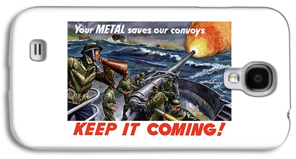 Historic Ship Galaxy S4 Cases - Your Metal Saves Our Convoys Galaxy S4 Case by War Is Hell Store