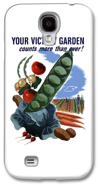 Historian Mixed Media Galaxy S4 Cases - Your Victory Garden Counts More Than Ever Galaxy S4 Case by War Is Hell Store