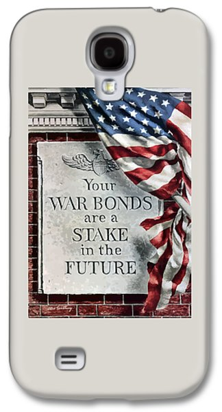 American Flag Mixed Media Galaxy S4 Cases - Your War Bonds Are A Stake In The Future Galaxy S4 Case by War Is Hell Store