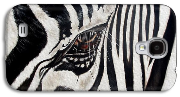Animal Galaxy S4 Cases - Zebra Eye Galaxy S4 Case by Ilse Kleyn