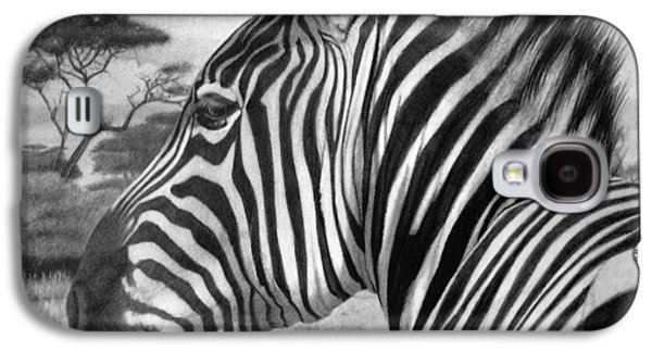 Illustrator Galaxy S4 Cases - Zebra Galaxy S4 Case by Tim Dangaran