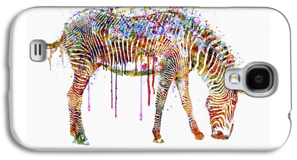 Zebra Watercolor Painting Galaxy S4 Case by Marian Voicu