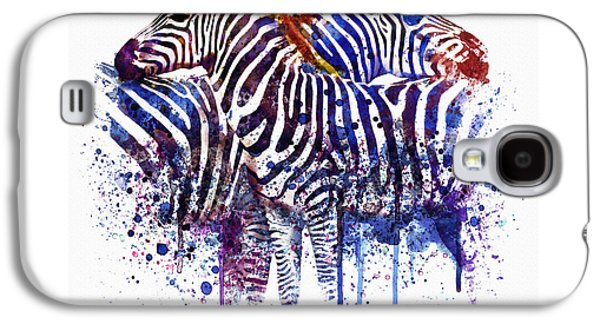 Animals Love Galaxy S4 Cases - Zebras in Love Galaxy S4 Case by Marian Voicu