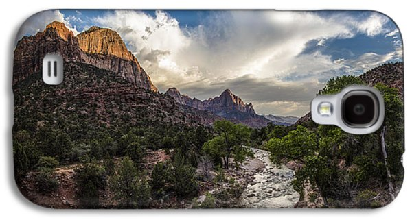 Recently Sold -  - Landscapes Photographs Galaxy S4 Cases - Zion National Park Sunset  Galaxy S4 Case by John McGraw