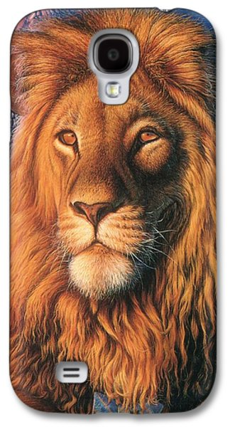 Fireworks Paintings Galaxy S4 Cases - ZooFari Poster The Lion Galaxy S4 Case by Hans Droog