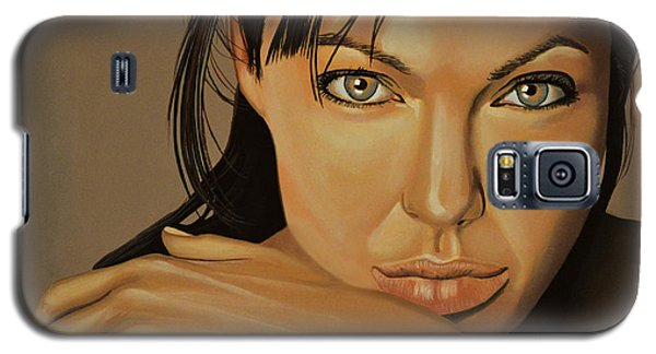 Popular Galaxy S5 Cases -  Angelina Jolie Voight Galaxy S5 Case by Paul  Meijering