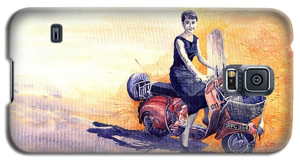 Audrey Hepburn And Vespa In Roma Holidey  Galaxy S5 Case by Yuriy  Shevchuk