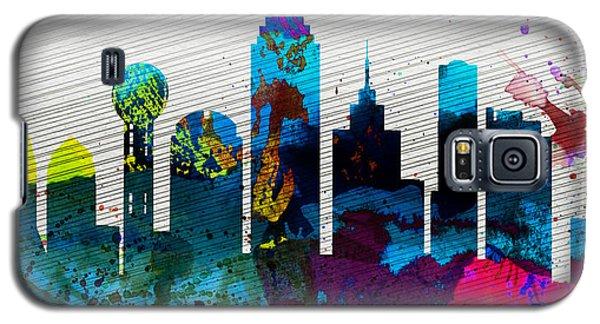 Dallas City Skyline Galaxy S5 Case by Naxart Studio