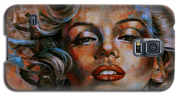 Marilyn Monroe Galaxy S5 Case by Arthur Braginsky