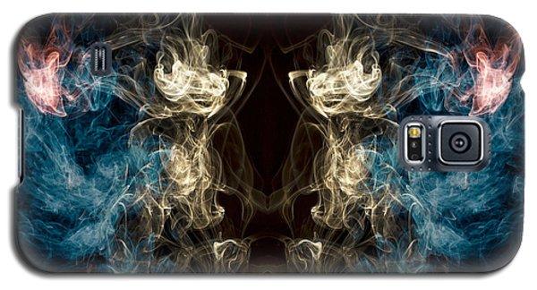 Minotaur Smoke Abstract Galaxy S5 Case by Edward Fielding