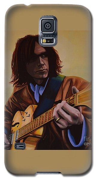 Neil Young Painting Galaxy S5 Case by Paul Meijering