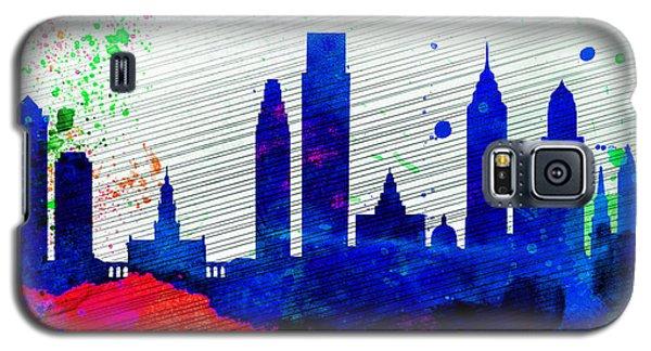 Philadelphia City Skyline Galaxy S5 Case by Naxart Studio