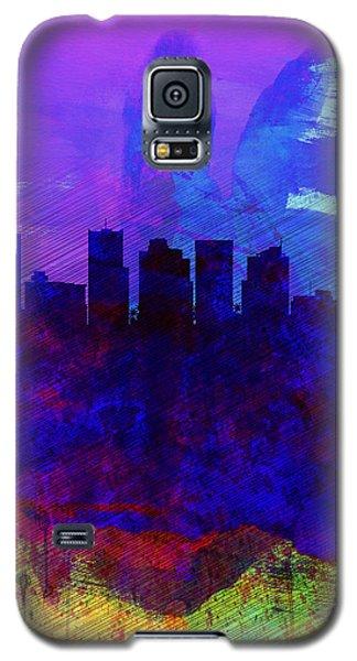 Phoenix Watercolor Skyline 1 Galaxy S5 Case by Naxart Studio