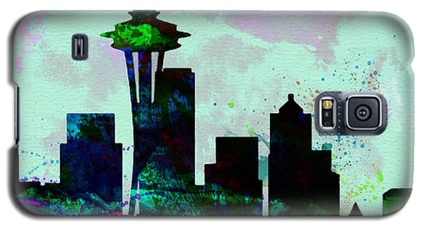Seattle City Skyline Galaxy S5 Case by Naxart Studio