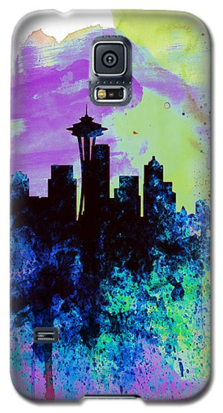 Seattle Watercolor Skyline 1 Galaxy S5 Case by Naxart Studio