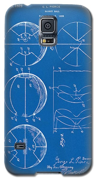 1929 Basketball Patent Artwork - Blueprint Galaxy S5 Case by Nikki Marie Smith