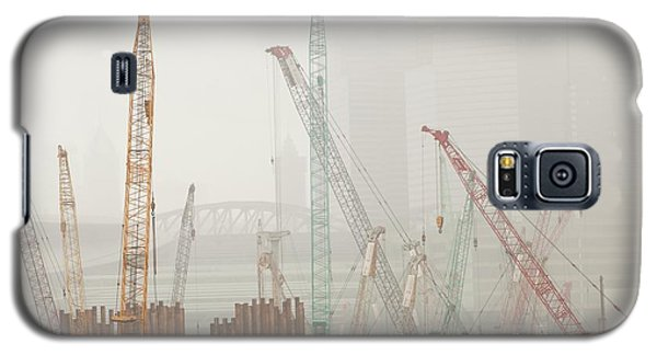A Construction Site In Hong Kong Galaxy S5 Case by Ashley Cooper