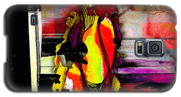 Austin Texas Map Watercolor Galaxy S5 Case by Marvin Blaine