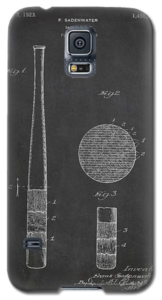 Baseball Bat Patent Drawing From 1920 Galaxy S5 Case by Aged Pixel