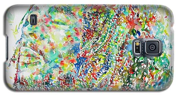 Portraits Galaxy S5 Cases - Bob Marley Watercolor Portrait.1 Galaxy S5 Case by Fabrizio Cassetta