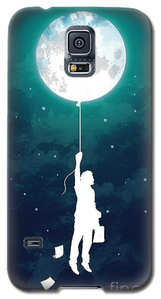 Moon Galaxy S5 Cases - Burn the midnight oil Galaxy S5 Case by Budi Kwan