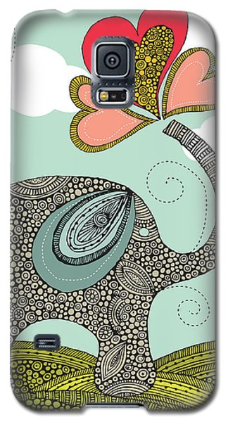 Cute Elephant Galaxy S5 Case by Valentina Ramos