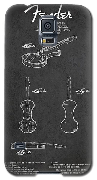 Electric Violin Patent Drawing From 1960 Galaxy S5 Case by Aged Pixel