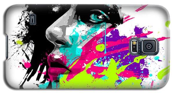 Face Paint 2 Galaxy S5 Case by Jeremy Scott