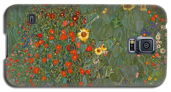 Farm Garden With Sunflowers Galaxy S5 Case by Gustav Klimt