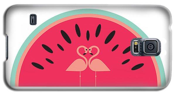 Flamingo Watermelon Galaxy S5 Case by Susan Claire
