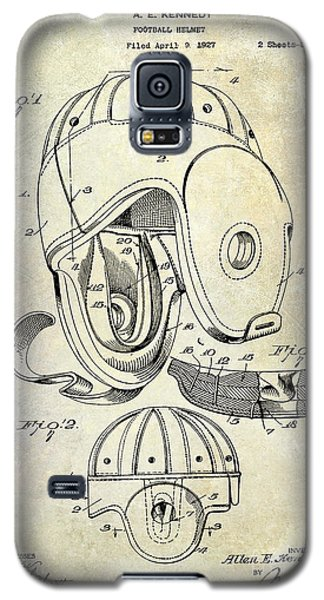 Football Helmet Patent Galaxy S5 Case by Jon Neidert