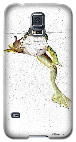 Frog On Waterline Galaxy S5 Case by Steven Schultz
