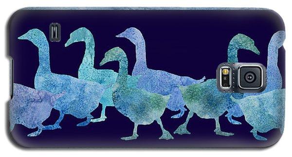 Geese Batik Galaxy S5 Case by Jenny Armitage