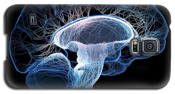 Human Brain Complexity Galaxy S5 Case by Johan Swanepoel