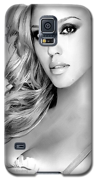 #1 Jessica Alba Galaxy S5 Case by Alan Armstrong