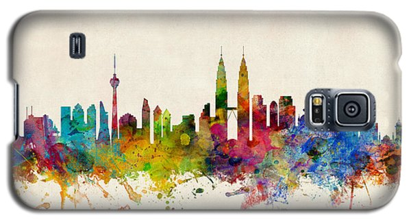 Recently Sold -  - Buy Galaxy S5 Cases - Kuala Lumpur Malaysia Skyline Galaxy S5 Case by Michael Tompsett