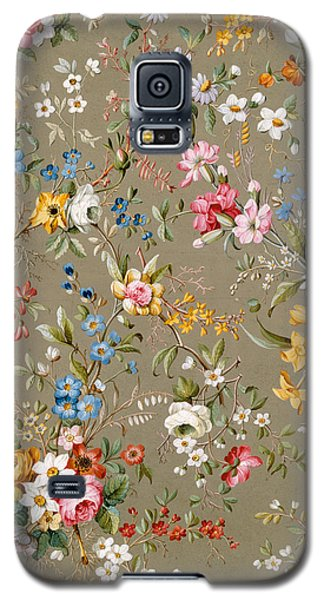 Tapestries - Textiles Galaxy S5 Cases - Marble end paper Galaxy S5 Case by William Kilburn