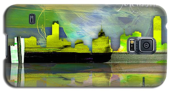 Melbourne Australia Skyline Watercolor Galaxy S5 Case by Marvin Blaine