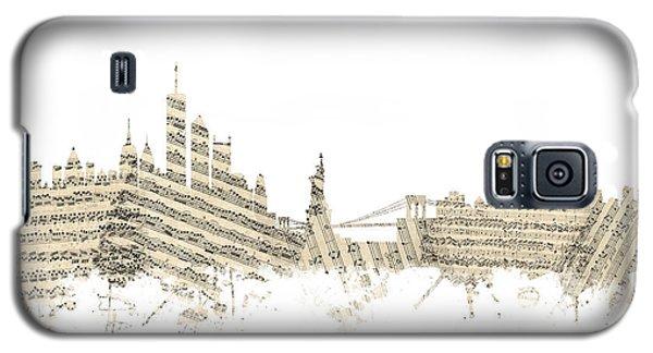 Philadelphia Pennsylvania Skyline Sheet Music Cityscape Galaxy S5 Case by Michael Tompsett