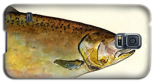 1 Part Chinook King Salmon Galaxy S5 Case by Juan  Bosco