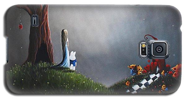 Alice In Wonderland Original Artwork Galaxy S5 Case by Shawna Erback