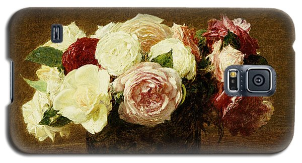 Floral Galaxy S5 Cases - Roses Galaxy S5 Case by Ignace Henri Jean Fantin-Latour