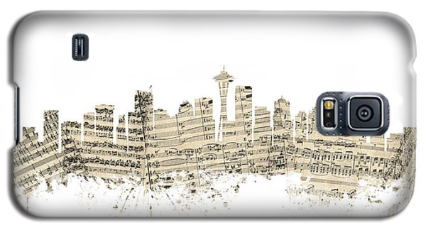 Seattle Washington Skyline Sheet Music Cityscape Galaxy S5 Case by Michael Tompsett